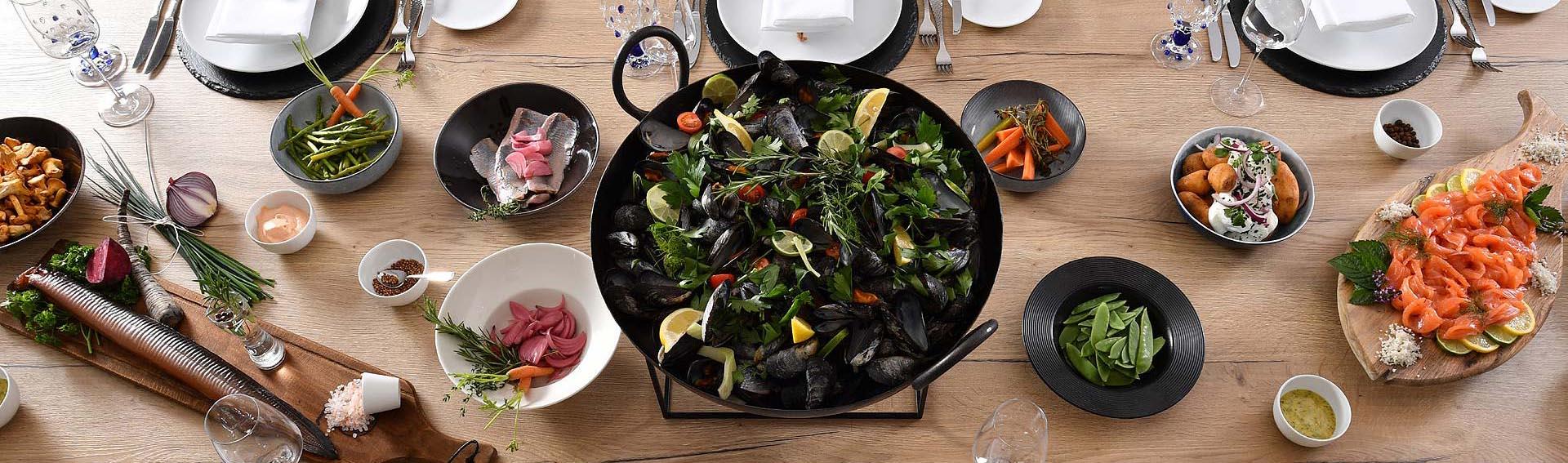 "One of the culinary highlights at Restaurant Kökken - the traditional Sylt fish menu ""Söl Fesk Sinfonii""."